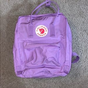 Lilac Fjallraven Backpack w/ strap pads